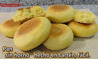 Preparamos Pan Casero En Una Sartén