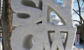 Deslumbrantes Esculturas En Nieve