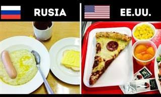 Los Almuerzos Escolares En Distintos Lugares Del Mundo