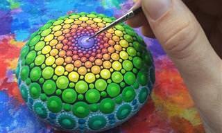 La Artista Que Transforma Piedras en Arte