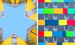 Arquitectura Minimalista, Simétrica y Colorida