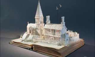 Deslumbrantes Esculturas En Libros