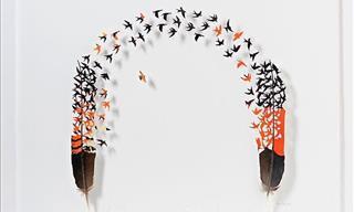 Descubre 15 Obras De Arte Realizadas Con Plumas Por Chris Maynard