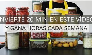 Invierte 20 Minutos Cocinando y Gana Horas Cada Semana
