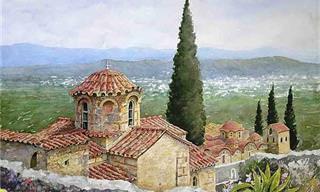 Hermosas Pinturas De Grecia...