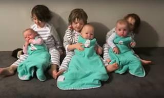 Un Súper Papá Capaz De Cuidar De Sus Seis Hijos a La Vez