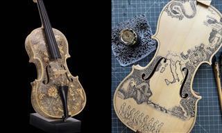 12 Increíbles Imágenes De Bellos Violines Decorados a Mano