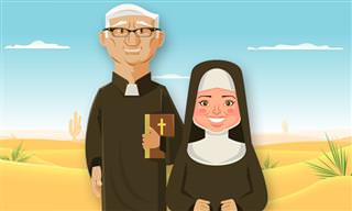 Chiste: ¡Esta Monja y Sacerdote No Tienen Ni Idea! (adultos)