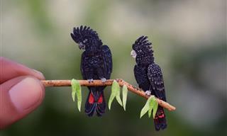 Arte En Papel Aves Miniatura