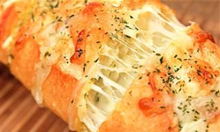 Receta: Pan De Ajo Con Queso, ¡Crujiente y Delicioso!
