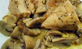 Receta: Pollo Guisado Con Champiñones