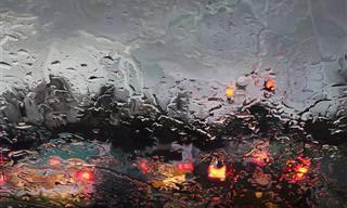 Pintura: La Lluvia Vista Desde La Ventana De Mi Coche