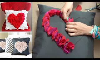 Cómo Hacer Tus Propios Cojines Con Corazón DIY