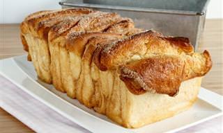 Prepara Un Pan Dulce De Canela a Tiras