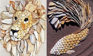 Hermosas Esculturas De Animales Hechas De Conchas De Mar