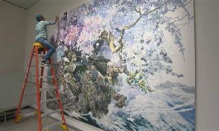 Las Enormes y Hermosas Pinturas De Manabu Ikeda
