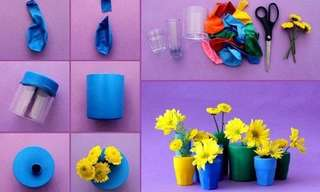 13 Ideas Para Crear Floreros Decorativos
