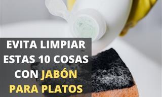 Consejos De Limpieza: Evita Limpiar Estas 10 Cosas Con Jabón Para Platos