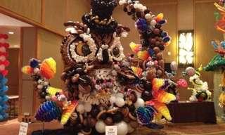 ¡Hermosas Esculturas Con Globos!