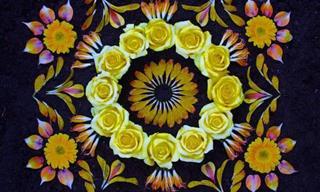 Hermosas Mándalas Con Pétalos De Flores