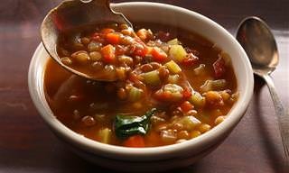 Saludable y Rica Sopa De Lentejas