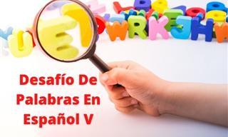 Test: Desafío De Palabras En Español V