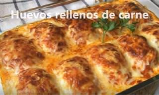 Huevos Gratinados Rellenos: Receta Fácil