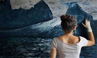 Zaria Forman, La Artista Que Pinta Con Sus Dedos
