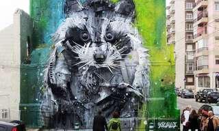 Alucinantes Esculturas Recicladas De Animales