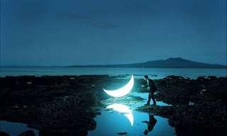 La Belleza De La Luna En La Tierra…