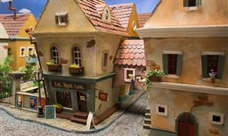 Un Maravilloso Pueblo En Miniatura Creado Para Hámsters