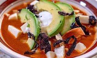 Receta De La Tradicional Sopa De Tortilla Mexicana