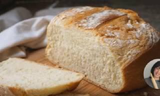 Receta: Hoy Preparamos Pan Casero y Crujiente