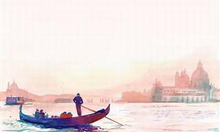 Disfruta De Venecia a Través De Estas Hermosas Acuarelas
