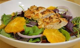 Ensalada De Pollo a La Naranja Para Aliviar El Resfriado