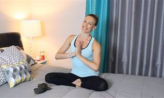 ¿Ejercicio En La Cama? ¡5 Posturas De Yoga Que Te Ayudarán a Dormir!