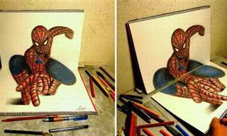Dibujos Tridimensionales Pintados Tan Solo con Un Lapiz