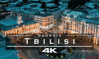 Un Recorrido Virtual Aéreo Por La Ciudad Tbilisi En Georgia