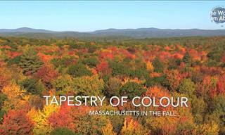 La Belleza de Massachusetts Vista Desde El Cielo