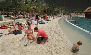 ¿Playa Tropical En El Invierno Alemán?