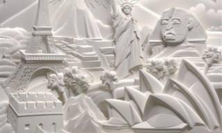 Descubre La Belleza De Estas Esculturas De Papel Hechas a Mano