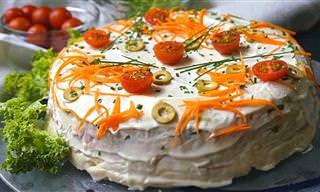 No Hace Falta Cocinar Para Preparar Este Pastel Salado