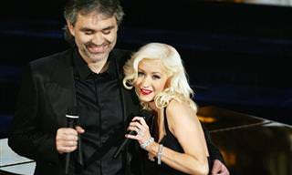 "Christina Aguilera & Andrea Bocelli: ""Somos Novios"""