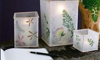 DIY: Hermosa Lámpara De Flores Secas y Papel