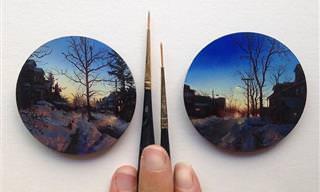 Una Artista Combina Sus Dos Pasiones En Pequeñas Pinturas Al Óleo
