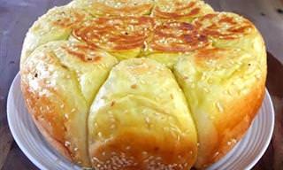 Pan Con Ajonjoli En Olla o Sartén
