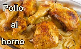 El Mejor Pollo Al Horno Con Papas y Cebolla