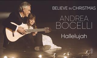 """El Cantante Andrea Bocelli y Su Hija Virginia Cantan """"Hallelujah"""""""