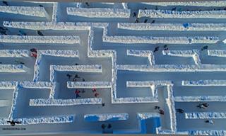 ¡El Laberinto De Nieve Más Grande Del Mundo!