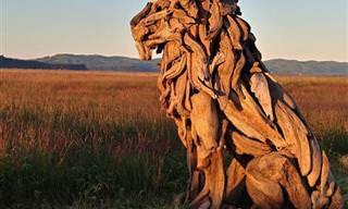 Espectaculares Esculturas Realizadas Con Madera Del Mar